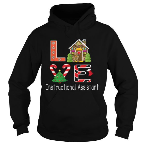 Nice Instructional Assistant Christmas Love  Hoodie