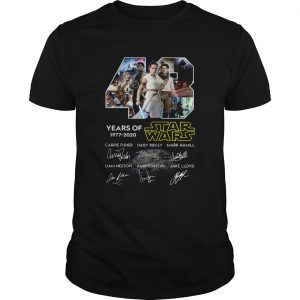 43 Years Of Star Wars Skywalker Characters Signatures  Unisex