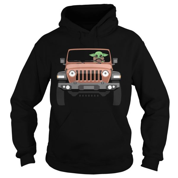 Baby Yoda Driving Jeep  Hoodie