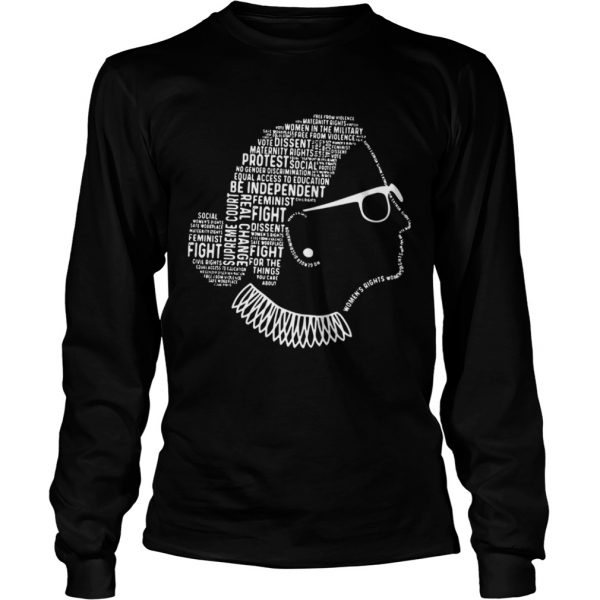Be Independent RBG Silhouette  LongSleeve