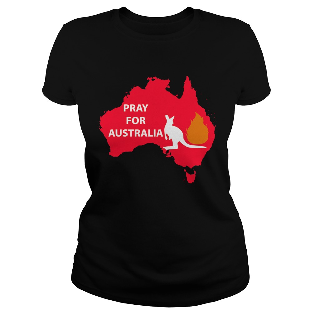 Pray for Australia Kangaroo fire  Classic Ladies