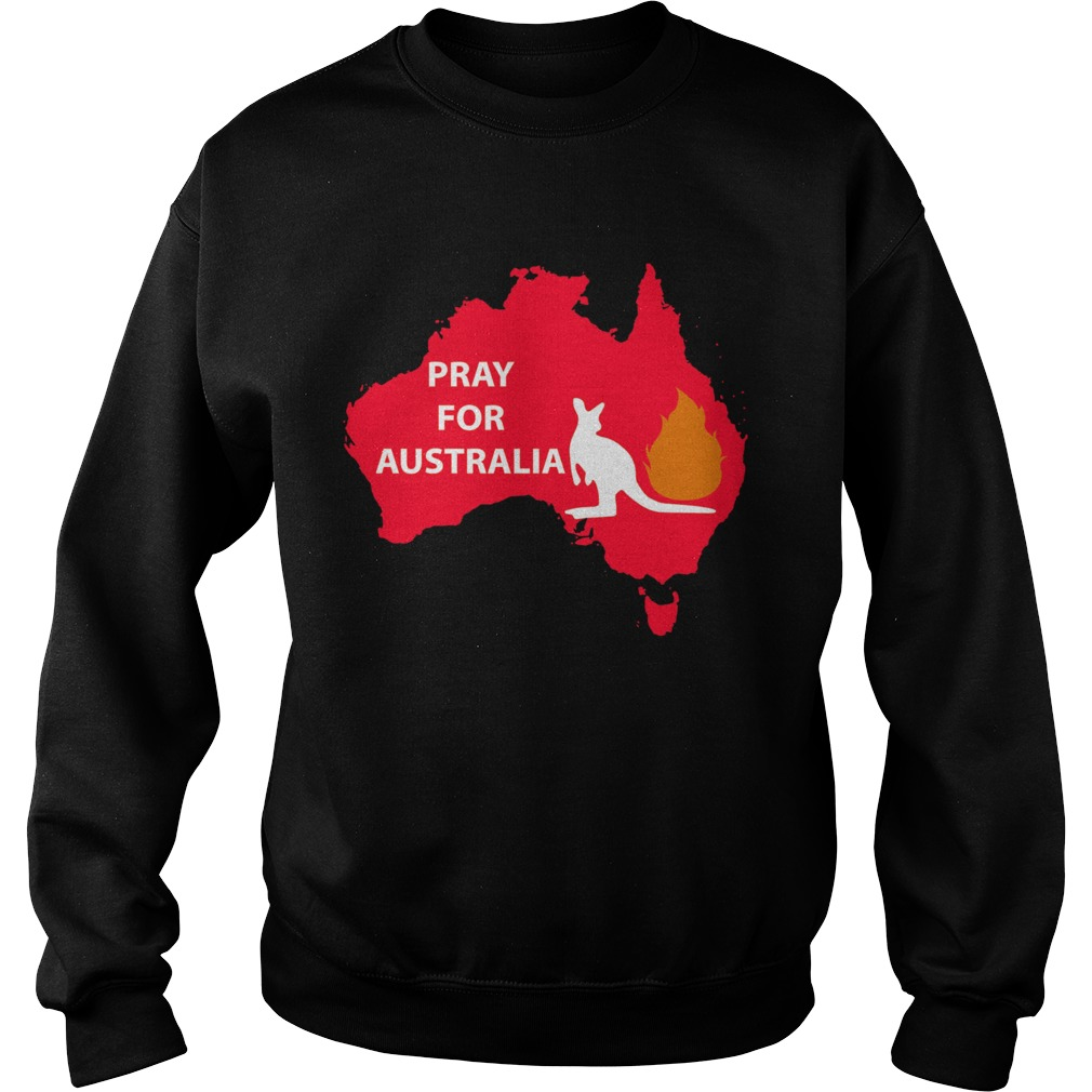 Pray for Australia Kangaroo fire  Sweatshirt