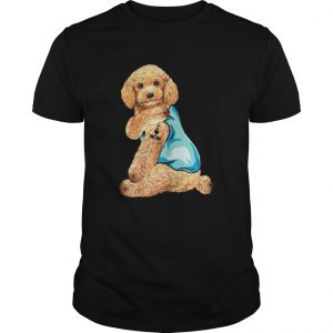 Poodle Tattoos I Love MOM Sitting Shirt Funny Gift Mothers Day  Unisex