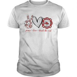 Peace Love Back The Red  Unisex