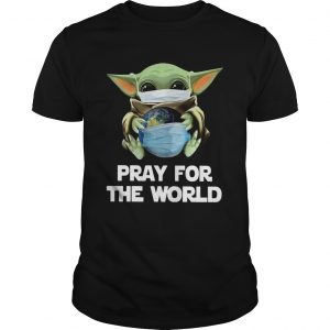 Baby Yoda Face Mask Hug Pray For The World Corona Virus  Unisex