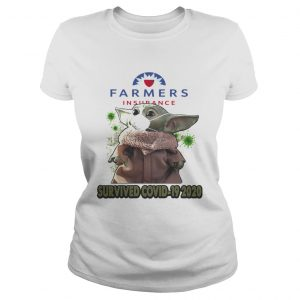 Baby Yoda Mask Farmers Insurance Survived Covid 19 2020  Classic Ladies