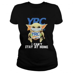 Baby Yoda mask YRC Freight I cant stay at home  Classic Ladies
