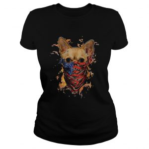 chihuahua mask face american fire in sight  Classic Ladies