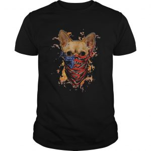 chihuahua mask face american fire in sight  Unisex