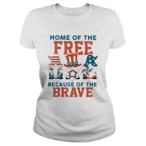 Home of the free because of the brave santa American flag veteran Independence Day  Classic Ladies