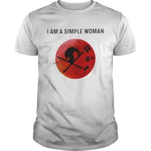 I am a simple woman skiing paw wine  Unisex