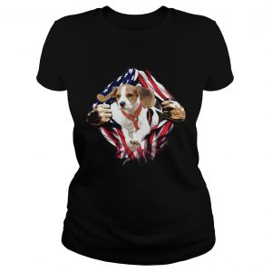 Beagle On The Flag Independence Day  Classic Ladies