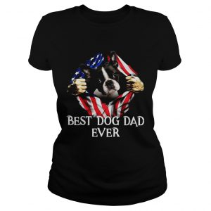 Blood Inside Me Boston Terrier Dog American Flag Best Dog Dad Ever  Classic Ladies