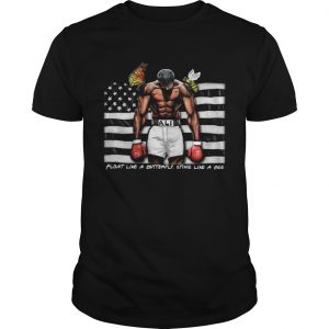 Float Like A Butterfly Sting Like A Bee Flag  Unisex