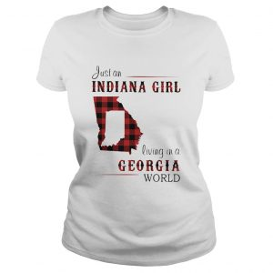 Just an indiana girl living in a georgia world map  Classic Ladies
