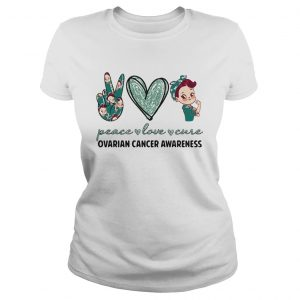 Peace love cure ovarian cancer awareness heart  Classic Ladies