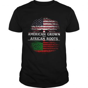 Tree American Grown With African Roots American Flag Independence Day  Unisex
