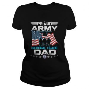 Veteran proud army national guard dad american flag independence day  Classic Ladies
