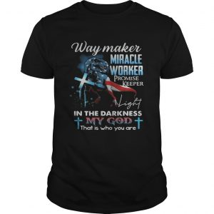 Way maker miracle worker promise keeper American flag veteran Independence Day  Unisex