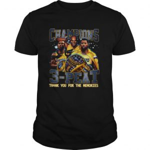 Champion 3 Peat Thank You For The Memories shirt