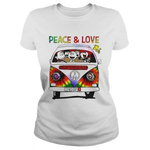 Hippie Snoopy Car Peace And Love  Classic Ladies