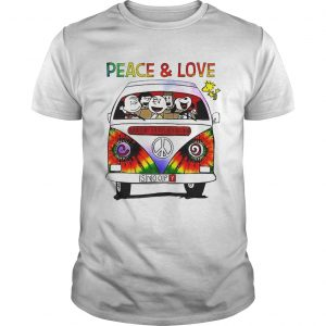 Hippie Snoopy Car Peace And Love  Unisex