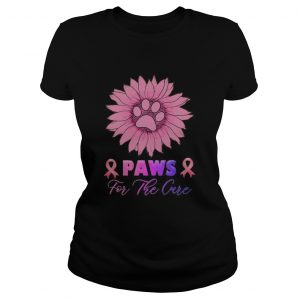 Sunflower Paws for the cure Breast Cancer Awareness  Classic Ladies
