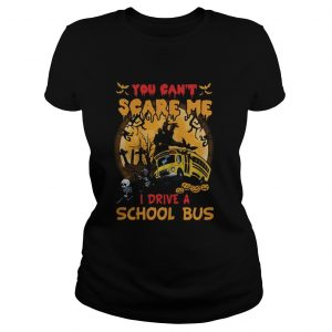 Halloween you cant scare me i drive a school bus skeleton  LlMlTED EDlTlON Classic Ladies