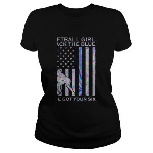 Softball Girl Back The Blue Ive Got Your Six American Flag Independence Day  Classic Ladies