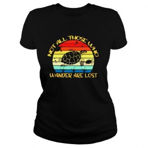 Turtles Not all those who wander are lost vintage shirt