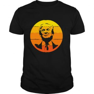 4th Of July Presidents Day Donald Trump Sunset shirt