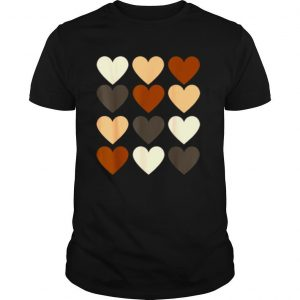 Black History Month 2021 Women's Valentines Equality Heart shirt