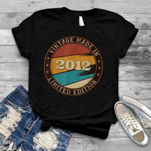 9 Years Old Vintage Classic Made In 2012 9th Birthday T Shirt