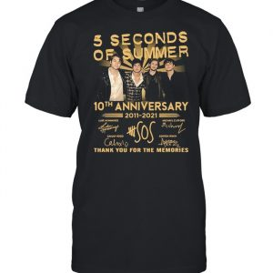 5 Seconds OF Summer 10th anniversary 2011-2021 signature thank you for the memories T- Classic Men's T-shirt