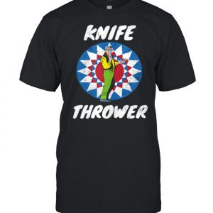 Funny Circus Knife Thrower Circus Staff Theme Party Carnival  Classic Men's T-shirt