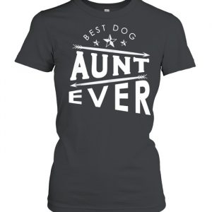 Mothers Day Humor Retro Quote Dog Aunt  Classic Women's T-shirt