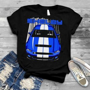 Mustang Shelby Gt500 S197 Blue And White Shirt