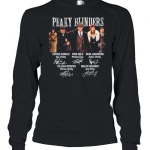 The Peaky Runders RIP Helen Mccrory 52 Year Signatures  Long Sleeved T-shirt