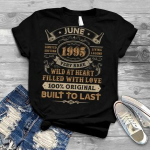 26th Birthday Gifts 26 Years Old Retro Born In June 1995 T Shirt
