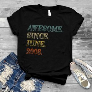 Awesome June 2008 Teenager 13th Birthday 13 Years Old Boy T Shirt
