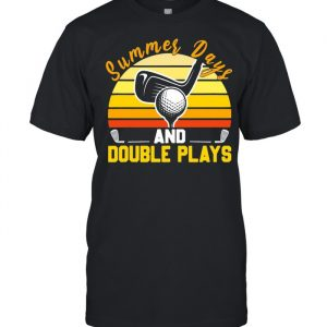 Golf Summer Days And Double Plays Vintage Shirt Classic Men's T-shirt