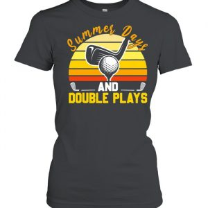 Golf Summer Days And Double Plays Vintage Shirt Classic Women's T-shirt