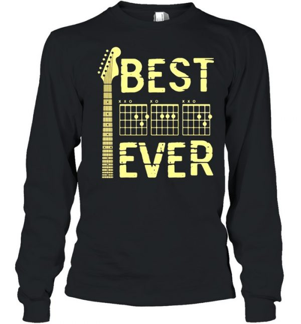 Guitar Dad Father's day Best Ever Shirt Long Sleeved T-shirt