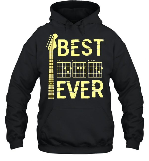 Guitar Dad Father's day Best Ever Shirt Unisex Hoodie