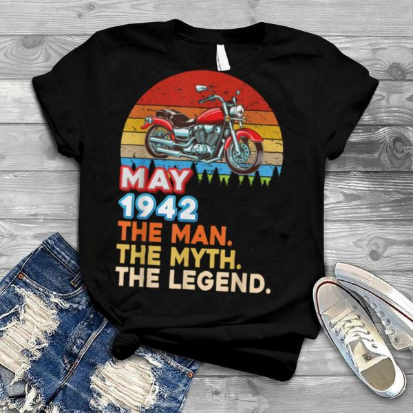 Made In May 1942 The Man Myth Legend 79 Year 79th Birthday T Shirt