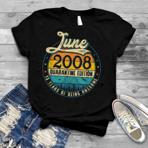Retro June 2008 Limited Edition Gifts 13th Birthday T Shirt