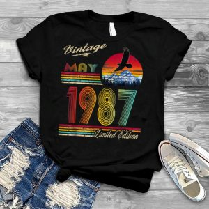 Vintage May 1987 Limited Edition 34th Birthday 34 Yrs Old T Shirt