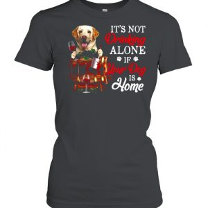 Yellow Labrador It's Not Drinking Alone If Your Dog Is Home T- Classic Women's T-shirt