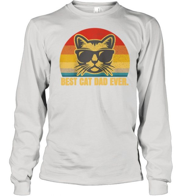 Best Cat Dad Feline Kitty Fathers Day  Long Sleeved T-shirt
