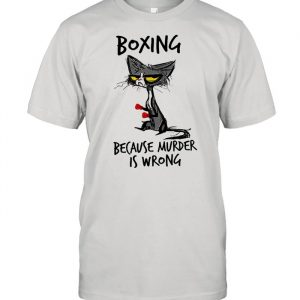 Black Cat boxing because murder is wrong  Classic Men's T-shirt